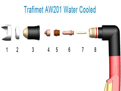 Comprar Pistola Torcha Plasma Trafimet 200A, Refrig. x Agua. Repuestos y consumibles