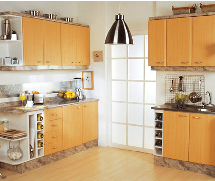 Mueble de cocina color amarillo comprar en Santiago
