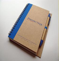 Comprar Libreta ecologica con logo reciclable
