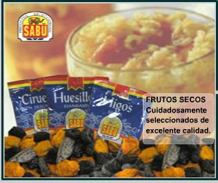 Comprar Frutos secos Sabu