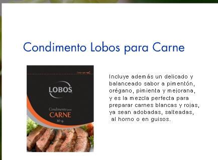 Comprar Condimentos Lobos a la Carne