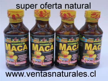 Comprar Oferta 4 frascos de maca cap. producto natural