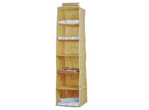 Comprar Organizador ropa 30x30x120cm 6 divisiones beige