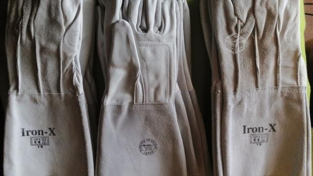 Comprar Guantes de soldador de puño largo certificados
