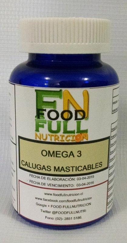 Comprar Omega tres en calugas masticable 30 unidades por envase