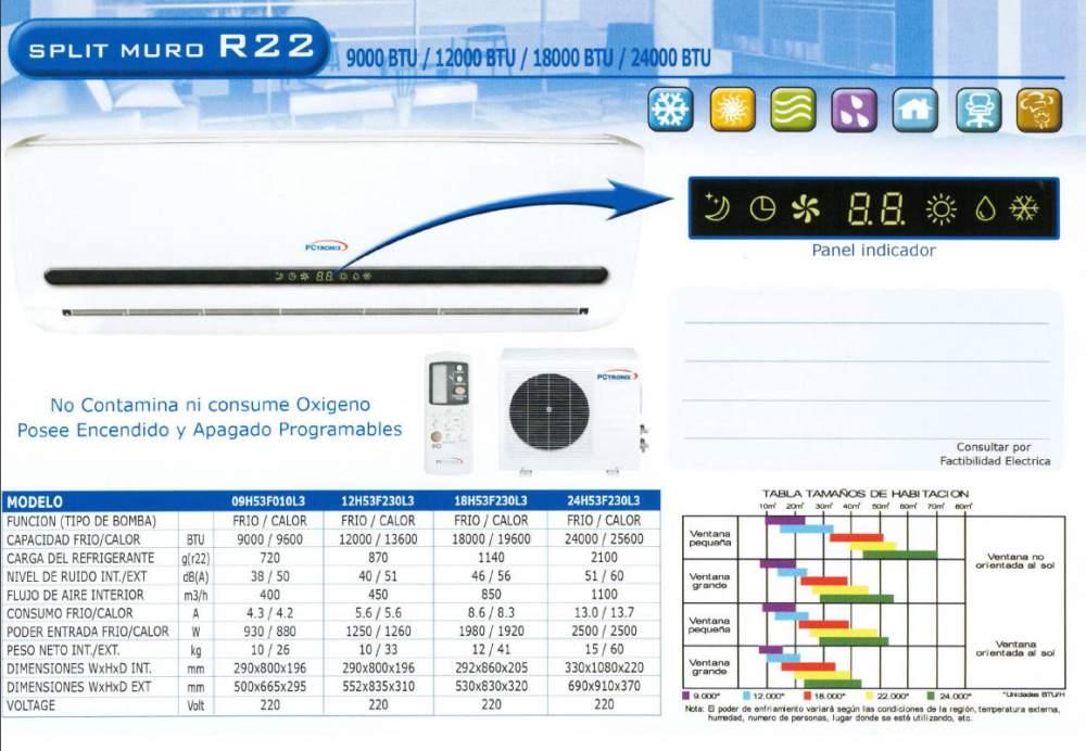 Comprar Aire Acondicionado Split Tipo Muro R22