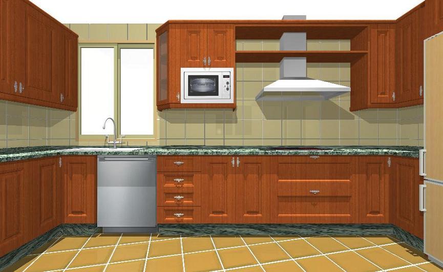 Mueble De Cocina De Madera. Gallery Of Cocina Muebles Madera Beige ...