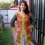 Vestido rojo y amarillo