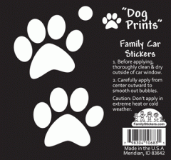 Adhesivo family dog prints