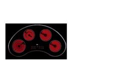 Encimera vitrocerámica con mandos sensitivos