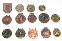 Sport medals with ribbon