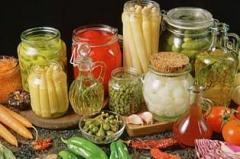 Hortalizas en conserva (conservas de hortalizas)