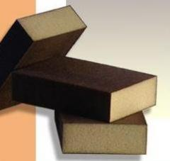 Two-sided grinding sponges for wood