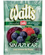 Mermelada Watts Sin Azúcar Arándano Mix Sachet