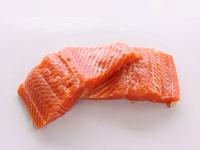 Filetes de salmón. Trucha Porciones