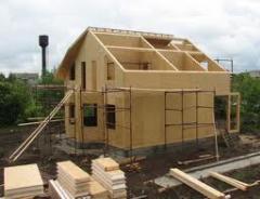 Casas construidas de las baldosas termoaislantes