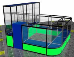 Construcciones comerciales de perfil de  aluminio