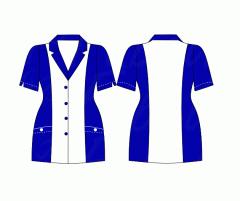 Delantal Cuello Camisero Color COD: 10-C