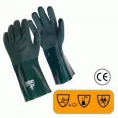 "Guante Rugson 14"" PVC Verde"