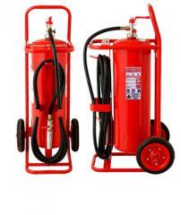 Carro extintor capacidad 25 kilos presión interna