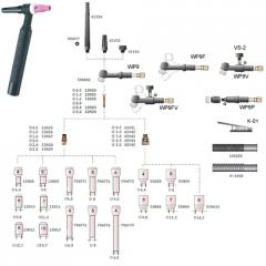 Equipo de soldar: Pistola  Torcha Tig WP9V,