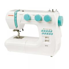 Máquina de coser portátil con asa plegable