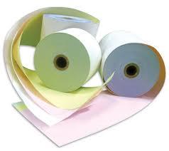 Rollos papel autocopiativo