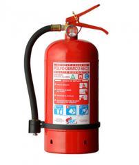 Extintor Portátil con carga de polvo químico seco