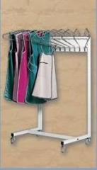 Perchas moviles cromadas para prendas