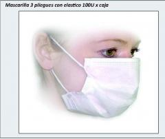 Mascarilla Desechable Tres Pliegues