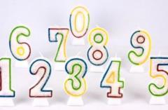 Velas número