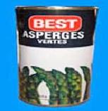 Espárragos verdes en lata