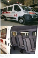 Servicios de tapiceria de Carros de rescate