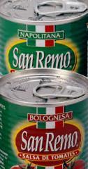 Gama de productos derivados del tomate