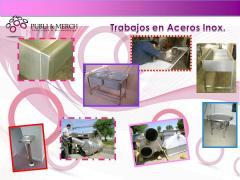 Aceros Inox. imagen corporativa y merchandising.