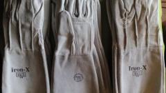Guantes de soldador de puño largo certificados