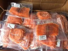 Porciones de Salmon.