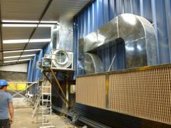 Ventilación de cabinas de pintura