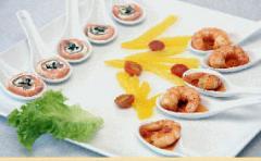 Pansotis y mariscos