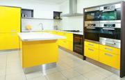 Cocina de color amarillo