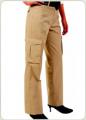 Pantalon cargo gabardina dama