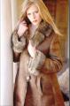 Abrigo doble faz en nappa rustica y piel