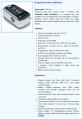 Oximetro de pulso de dedo FTP 401