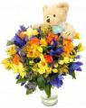Flores con peluche