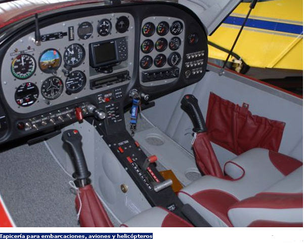 Pedido Tapicería para embarcaciones, aviones y helicópteros