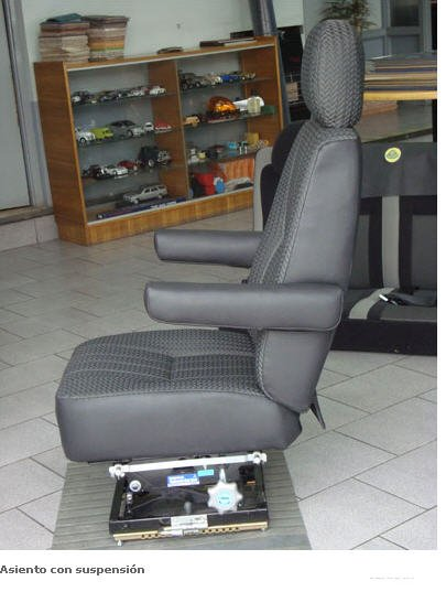Pedido Fabricación de asientos con suspensión