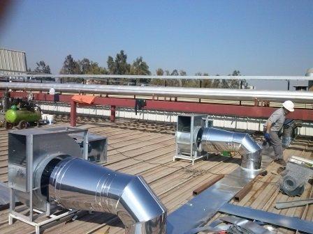 Pedido Servicios de ventilación, extractores de aire,