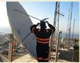 Servicios para la comunicación vía satélite