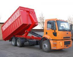Recogida y salida de desechos con la aplicación de container de presión