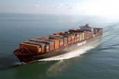 Transportaciones marítimas de cargos en los containers